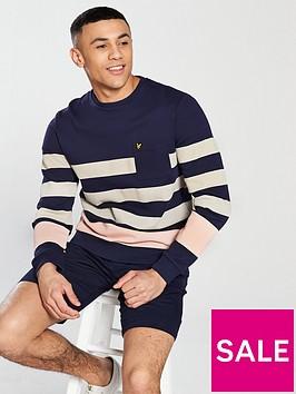 lyle-scott-lyle-amp-scott-stripe-sweatshirt