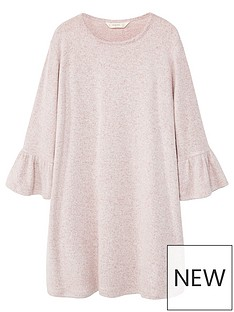 mango-girls-textured-ruffle-sleeve-dress
