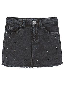 mango-girls-stud-denim-skirt
