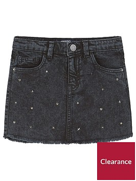 mango-girls-stud-denim-skirt