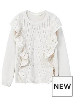 mango-girls-ruffled-knit-sweater