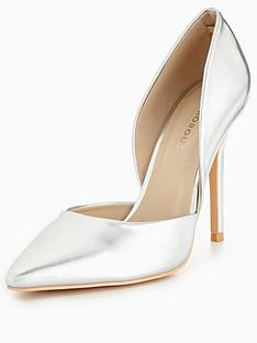 glamorous-cut-out-court-shoe-silvernbsp