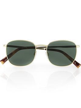 le-specs-neptune-squared-sunglasses-goldkhaki