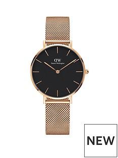 daniel-wellington-daniel-wellington-petite-melrose-rose-gold-black-face-32mm-case-rose-gold-mesh-strap-ladies-watch