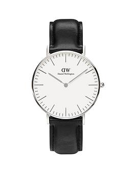 daniel-wellington-sheffieldnbspsilver-36mmnbspcase-black-leather-strap-unisex-watch