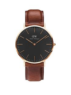 daniel-wellington-st-mawesnbsprose-gold-40mmnbspcase-brownnbspleather-strap-mens-watch