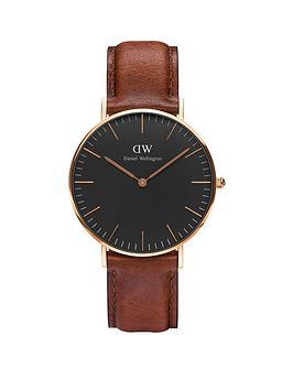 daniel-wellington-black-st-mawesnbsprose-gold-36mmnbspcase-brown-leather-strap-unisex-watch