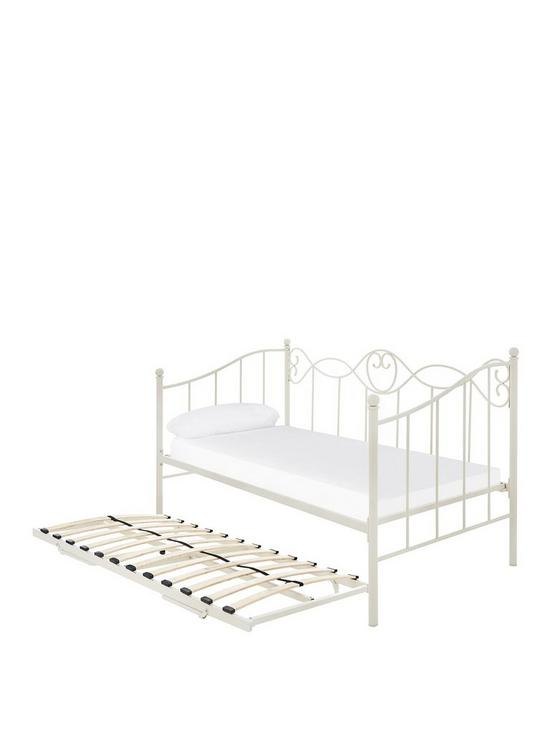 Trundle Bed.Juliette Metal Day Bed And Trundle Bed With Mattress Options Buy And Save