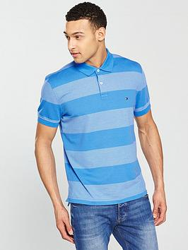 tommy-hilfiger-jacquard-structured-polo-blue
