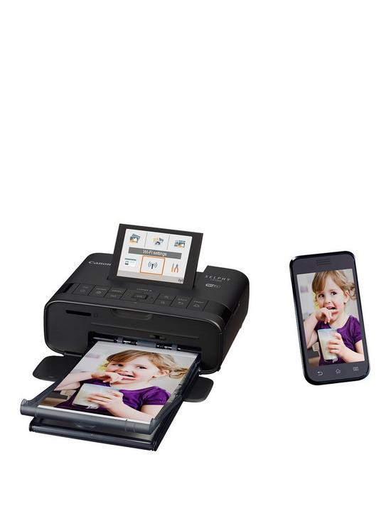 Canon SELPHY CP1300 Compact WiFi Photo Printer (Black) with Ink and  Optional Paper