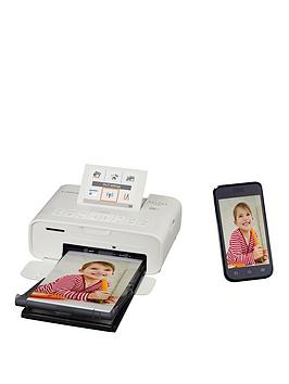 Canon Selphy Cp1300 Compact Wifi Photo Printer White With Ink And 108 X Paper - Photo Printer With Rp-108 Ink And 108 X Paper