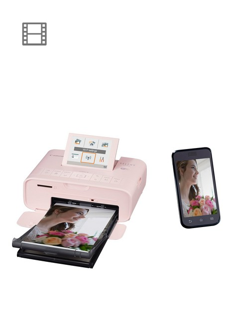 canon-selphy-cp1300-compact-wifi-photo-printer-pink-with-ink-and-108-x-paper