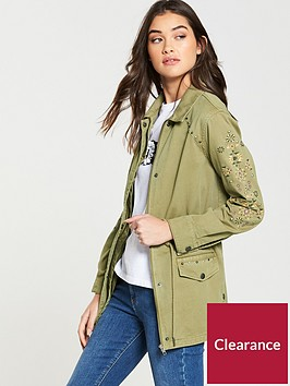 v-by-very-embroidery-and-stud-utility-shacket-khaki