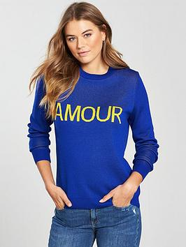 V By Very Amour Slogan Jumper
