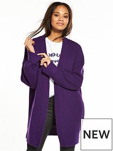 v-by-very-turn-back-cuff-cardigan-purple