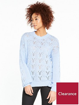 v-by-very-pointelle-blouson-sleeve-jumper-soft-blue