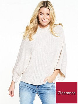 v-by-very-batwing-rib-detailed-jumper
