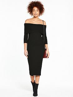 v-by-very-bardot-skinny-rib-knitted-dress