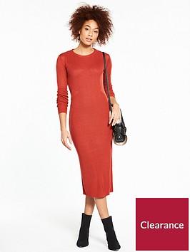 v-by-very-mesh-insert-skinny-rib-knitted-midi-dress