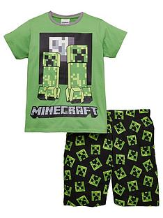 minecraft-boys-creeper-shorty-pyjamas