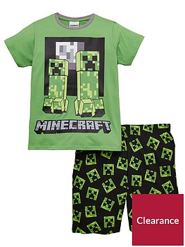 minecraft-boys-creeper-shorty-pyjamas