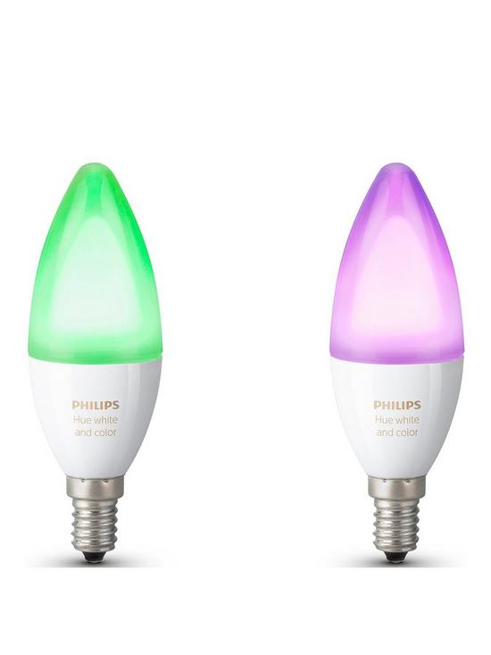 Philips Hue E14.Philips Hue White And Colour Ambiance E14 Double Pack Very Co Uk