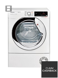 hoover-dxhy10a1tce-10kgnbspload-aquavision-heat-pumpnbsptumble-dryer-with-one-touch-nbspwhitechrome
