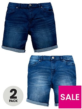 v-by-very-2-pack-denim-shorts