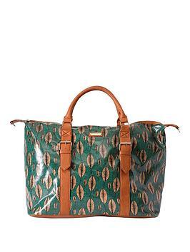 kangol-leaf-print-weekend-bag