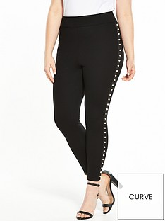 v-by-very-curve-pearl-trim-legging-black