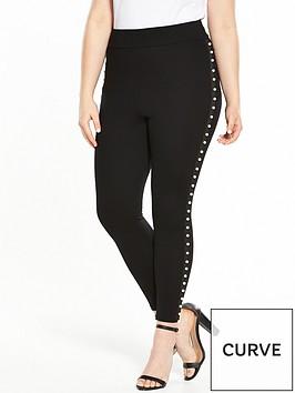 v-by-very-curve-pearl-trim-legging-black