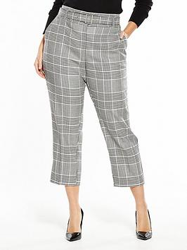 V By Very Curve Check Belted Trouser