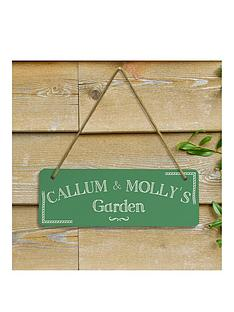 personalised-green-garden-sign