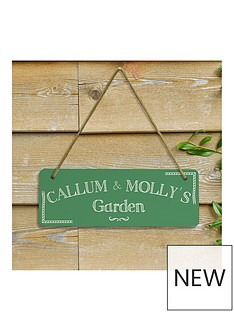 pesonalised-green-garden-sign