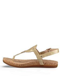 Ugg Ayden Toe Post Sandal - Gold