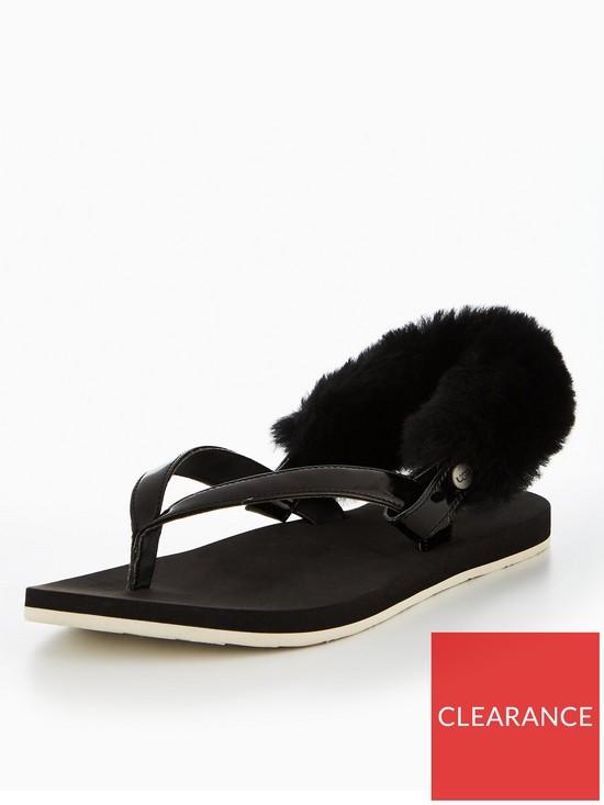 f29f6498f83c80 UGG LaaLaa Slingback Flat Sandal - Black