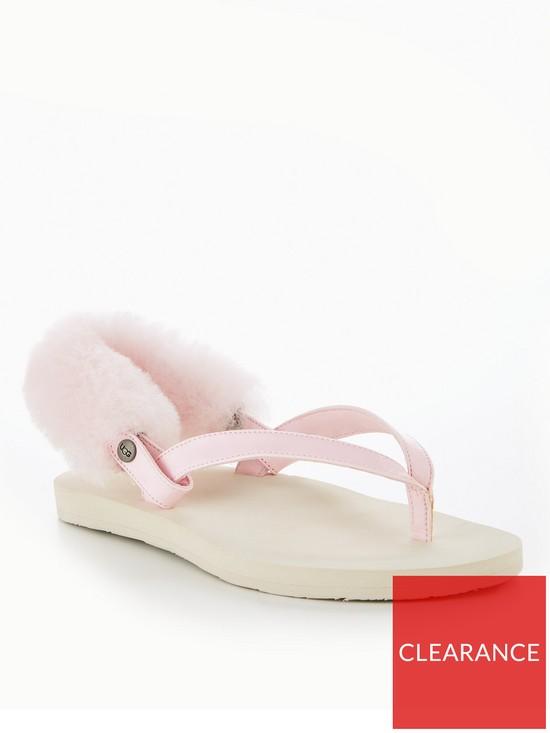 2fb6be8093da UGG LaaLaa Sling Back Flat Sandals - Pink