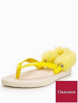 ugg-laalaanbspslingback-fat-sandal-yellow