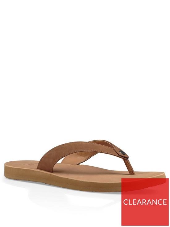 2c23a6805b75 UGG Tawney Suede Flip Flops - Brown