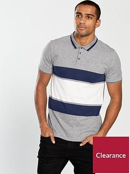 v-by-very-contrast-block-stripe-polo-greynavywhite