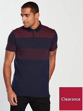 v-by-very-two-tone-stripe-polo-burgundy