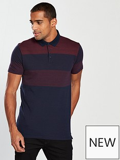 v-by-very-two-tone-stripe-polo