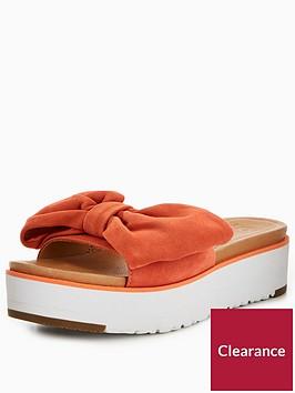 ugg-joan-bow-flat-sandals-orange