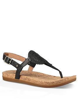 Ugg Ayden Toe Post Sandal - Black