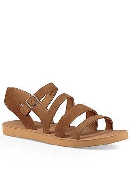 Ugg Aylse Strappy Flat Sandal - Chestnut