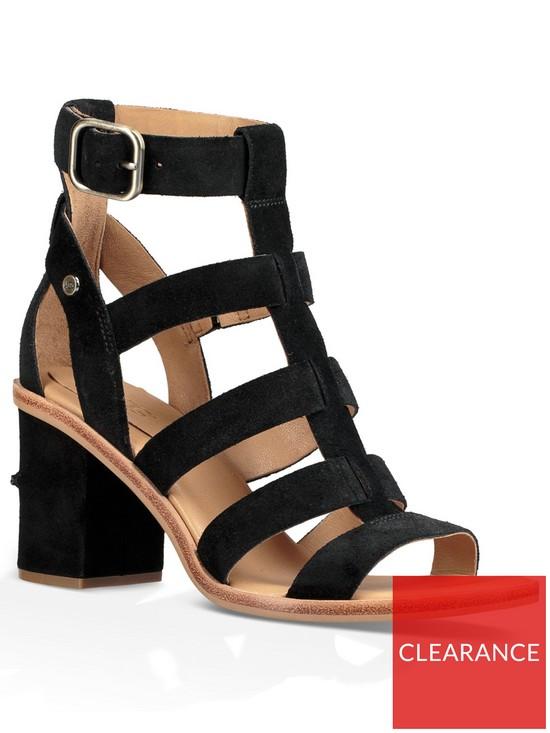 146770b4450 UGG Macayla Gladiator Heeled Sandal - Black