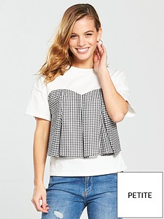 v-by-very-petite-gingham-bodice-t-shirt-ivory