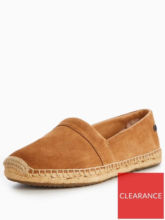 412bb51ef05 UGG Renada Suede Espadrille Shoes - Brown