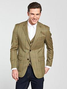 skopes-mcardle-check-tweed-blazer-cornnbsp
