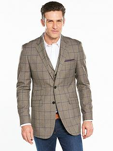 skopes-bevington-check-blazer-brownnbsp